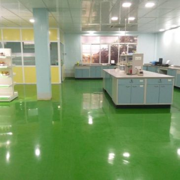 TUN SHWE WAR MEDICINE FACTORY, LABORATORY ROOM SELF LEVELING EPOXY FLOORING
