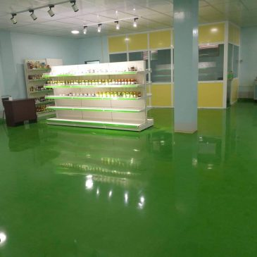 EPOXY FLOOR APPLICATION AT TUN SHWE WAH TRADITIONAL MEDICINE FACTORY PROJECT