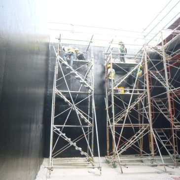 EPOXY TAR PROTECTIVE COATING FOR WASTE TANK AT MYANMAR BREWERY PROJECT